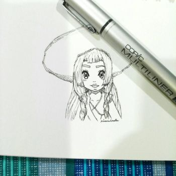 Lillie Pokemon sketch. by rianwirata