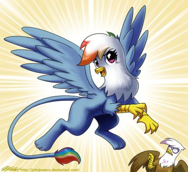Rainbow Dash the Griffon by johnjoseco