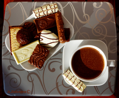 Belgian dessert with hot Chocolate 3 by AnnaZLove