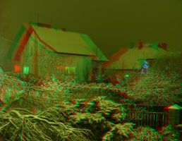 Snow 3D Anaglyph by yellowishhaze
