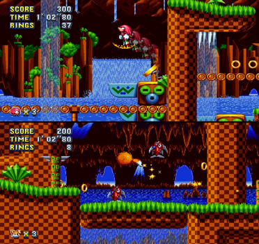 Sonic Mania 2P Competition w/o squashed screens by ZiggyTheZombieHedgie