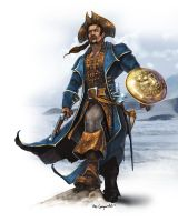 Pirate character concepts commission 6 by bobgreyvenstein