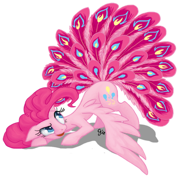 Pinkie Peacock Pie by GingerFoxy