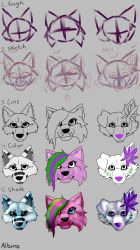 How I draw - Art Process in Steps by Albino-Umbreon