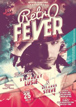 Retro Fever Poster Template by Grydster