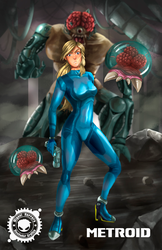 Metroid by miguelHE