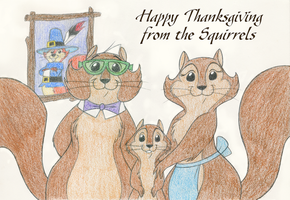 Thanksgiving with the Squirrels by tymime