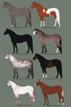 Horse adopts OPEN by Nuklear-Bunnies