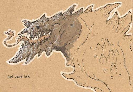 Giant Lizard Monster by Axel13-Gallery