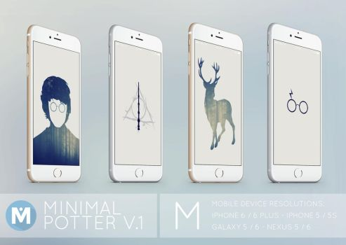 MOBILE : Minimal Potter 1 Wallpaper Set by polygn