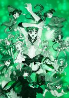 Henshin!! magical girls (green) by aku-no-hana2