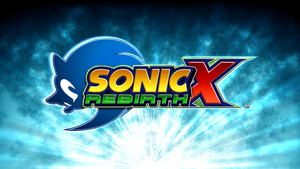 Sonic X Rebirth (Fan Logo) by Mauritaly