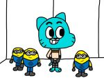 Gumball and The Minions by MigsGarcia5127