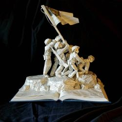 Flags of Our Fathers Book Sculpture by wetcanvas
