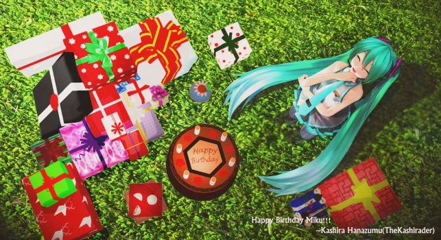 [ MMD ] HAPPY BIRTHDAY MIKU!! by TheKashirader