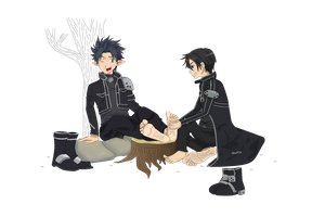 kirito tickled by alan-underfoot