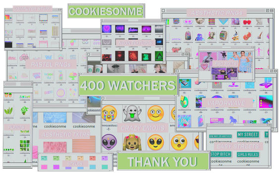 +/MEGAPACK 400 WATCHERS |GRACIASSS by COOKIESONME