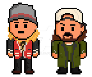 Dogma Pixel Jay and Silent Bob by gkillerb
