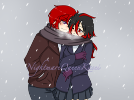 Lets Share This Scarf by NightmareQueenKasei