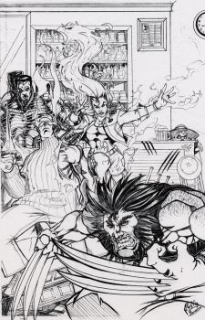 X-Men Cover Old by 5000WATTS