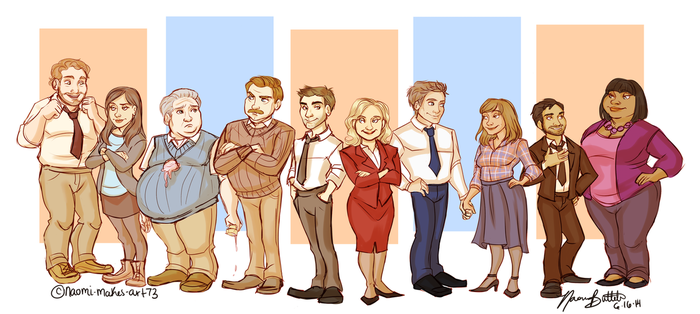 Parks and Recreation by naomimakesart