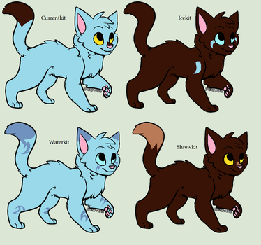 Adoptable Kits-Oakheart x Bluestar 2/4 OPEN by ScarletSkyAdopts