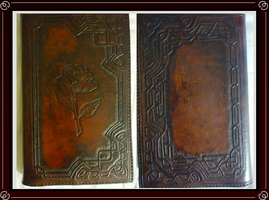 Rose Leather Sketchbook Cover by Isinglass-Industries