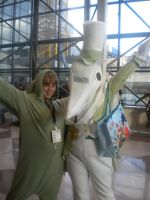 Exalibur and Flying mint bunny at NYCC 2011 by XPockyDemonX