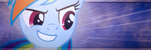 Rainbow Dash with Awesome Face Sig by SandwichHorseArchive