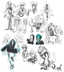 Couple a characters sketches by Assassin-or-Shadow