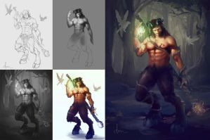 Panting Step by step by daimoc-art