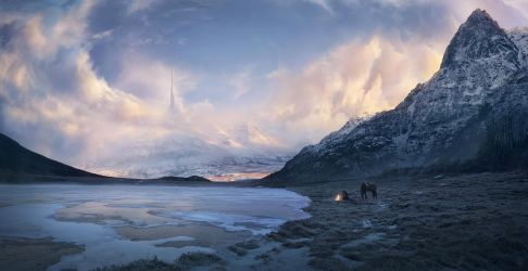 A flame in a cold winter by Jessica-Rossier