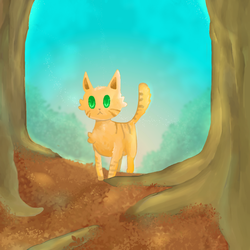 Forest Cat by cutecatandrabbit