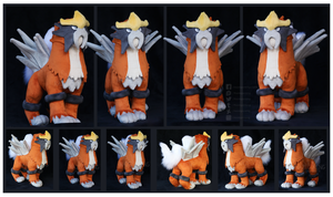 Shiny Entei Custom Plush by Nazegoreng