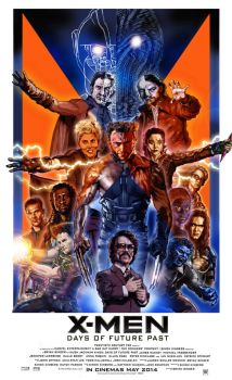 X-Men Days of Future Past poster by N8MA