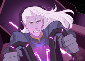 [Commission] Prince Lotor's distress by yainedraws