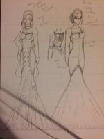 Kenina wedding dresses wip by MagicalCrystalWings
