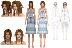 MMD - HD Aerith (Crisis Core) by NipahMMD