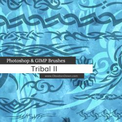 Tribal II Photoshop and GIMP Brushes by redheadstock