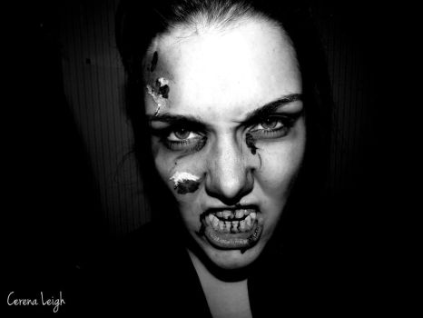 Zombie Makeup Test 1 by CerenaLeigh