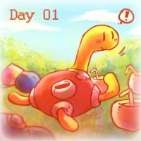 Day 01 - Favourite Bug Type by Mikoto-Tsuki