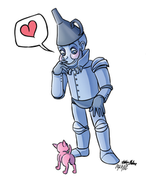 Tinman chibi by Orangeandbluecream