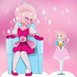 Steven universe - Pink Diamond and Pearl by CutetyJenny