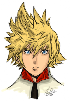 Roxas (Colored) by AndrewScrolls