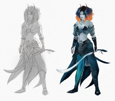character concept art COMMISSION by Everybery