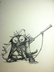 Discount Sniper - Inktober Day 4 by doktord