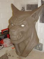 werewolf head nearly finished by kungfuking