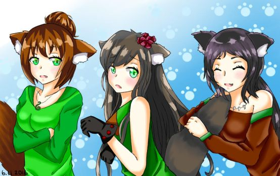 Special Request: Faia, Bea, and Sookie by KinSendou