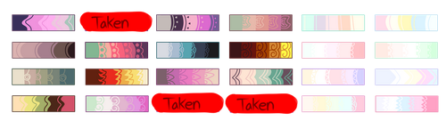 Mlp Color Palette Adopts *OPEN* *MORE COLORS ADDED by ConspiracyAdopts