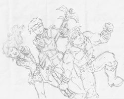 Saint Fighter Sketches by jetcomics